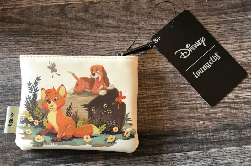 NEW WITH TAGS!  Loungefly Disney Fox and the Hound Faux Leather Coin Purse!