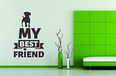 Wall Stickers Vinyl Decal Decor Dog Best Friend Pet Paw Mural Decoration Room