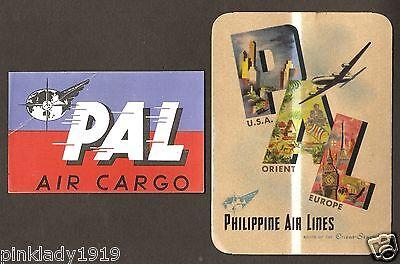 Pal  Philippine Air Lines  Baggage Labels Ph 38  Ph 79  Original Scarce