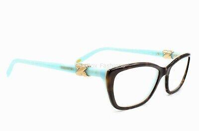 Tiffany & Co TF 2074 8134 Eyeglasses Glasses Brown Tortoise on Blue 52mm (Glasses Company)