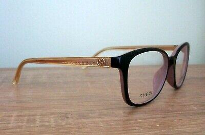 Eyeglasses Frame Vintage Gucci Tortoise Wayfarer Black Yellow Mint With Case