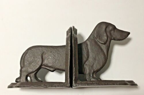 Midwest CBK Metal Daschund Dog Book Ends  - Immaculate condition
