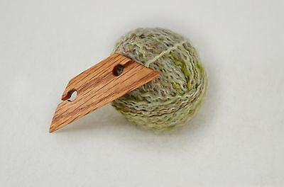 "Small 3"" Weaving Shuttle For Inkle Loom Tablet Or Card Weaving Handcrafted - Oak"