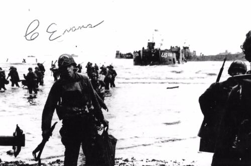 Clarence Evans autographed WW II D-Day Legion of Honor Rare COA LOOK!