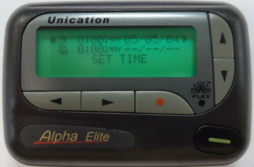 Unication 4 line Alpha Elite Pager VHF FLex 153.6350