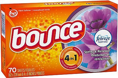 Bounce With Febreze Fabric Softener Sheets, Spring - Rene...