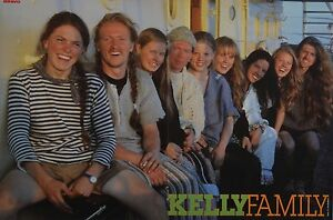 THE KELLY FAMILY - A3 Poster (ca. 42 x 28 cm) - Clippings Fan Sammlung NEU