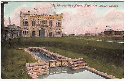 AK SAULT Ste. Marie Canada 1907 Old Hudson Bay Locks    ( 387