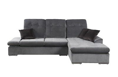 Modern Microfiber Sectional Sofa With Chaise - L Shape Couch