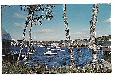 From East Side, BUSY SCENE Boats Boating  BOOTHBAY HARBOR Maine ME Postcard
