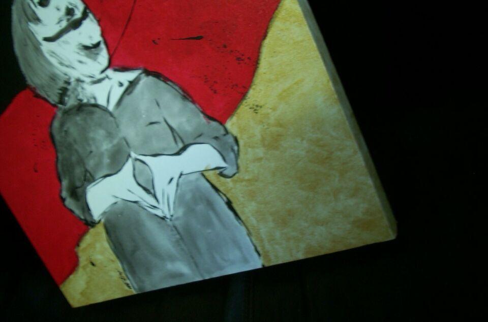 SLOW MOTION - abstrahierte Person Bild Leinwand Galeriekeilrahmen in Warendorf