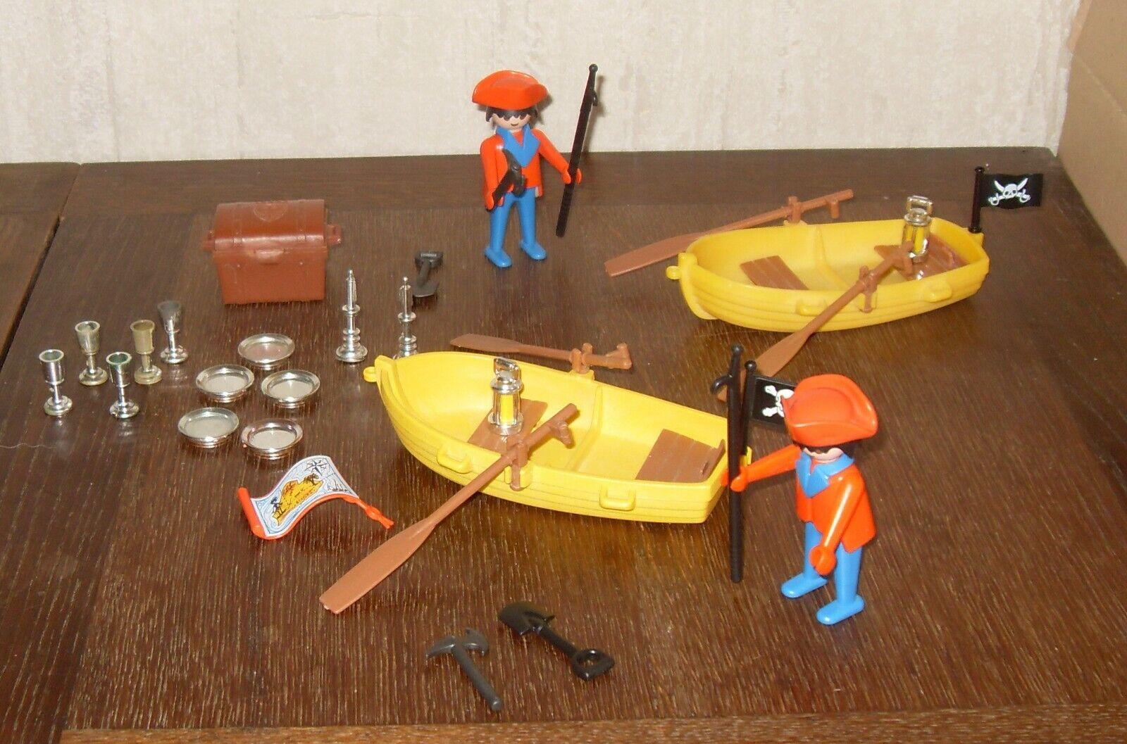Playmobil ref : 3570 pirates avec barque vintage 1979