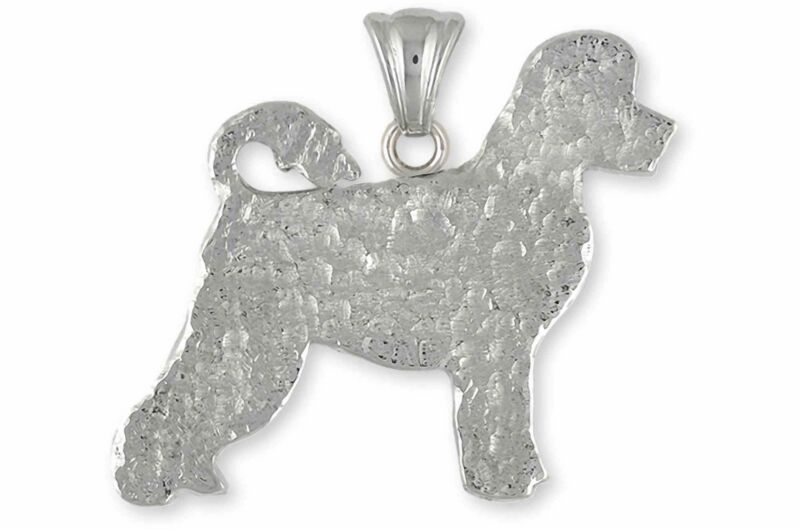 Portuguese Water Dog Jewelry Sterling Silver Handmade Portuguese Water Dog Penda