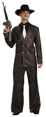 Gangster Gold Roaring 20's Suit Mafia Mob Fancy Dress Halloween Adult Costume