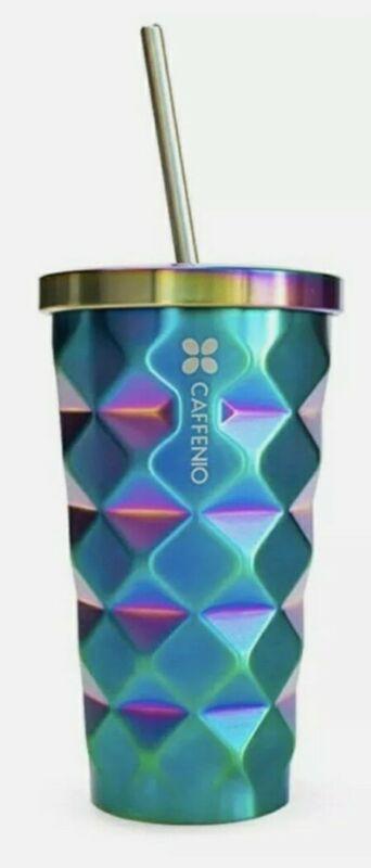 Caffenio TORNASOL TERMO Oil Slick Pineapple Tumbler Cup Straw Mexico 16 oz New