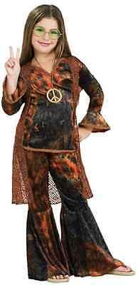 Woodstock Diva 60's Hippie Retro Party Fancy Dress Up Halloween Child Costume - 60s Dress Up