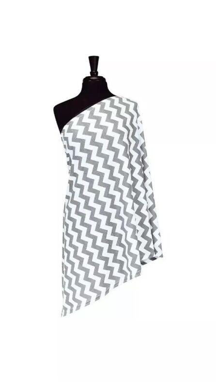 Itzy Ritzy Nursing Grey Gray Chevron Infinity Breastfeeding Scarf Nwop