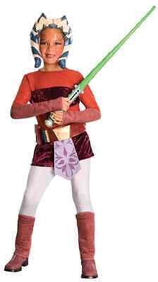 Ahsoka Tano Snips Star Wars Clone Jedi Knight Halloween Deluxe Child (Ahsoka Jedi Kostüm)