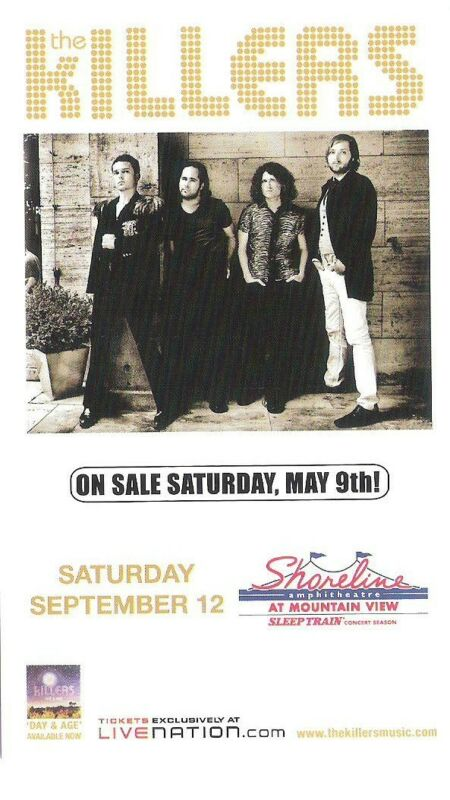 The Killers Concert Handbill Mini-Poster Shoreline Amp 2009