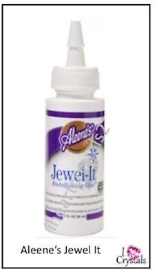 ALEENE'S JEWEL IT Fabric Embellishing Adhesive Rhinestone Glue Craft ALEENES 2oz](Aleene's Glue)