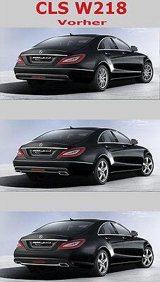 Mercedes Benz CLS C218  Sport Endrohr System mit Heckblende 4-flutig für Serie