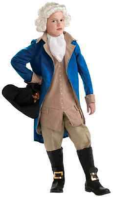 George Washington President Founding Father Fancy Dress Halloween Child Costume