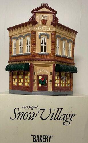 Dept 56 Snow Village Bakery w/box, sleeve, and light