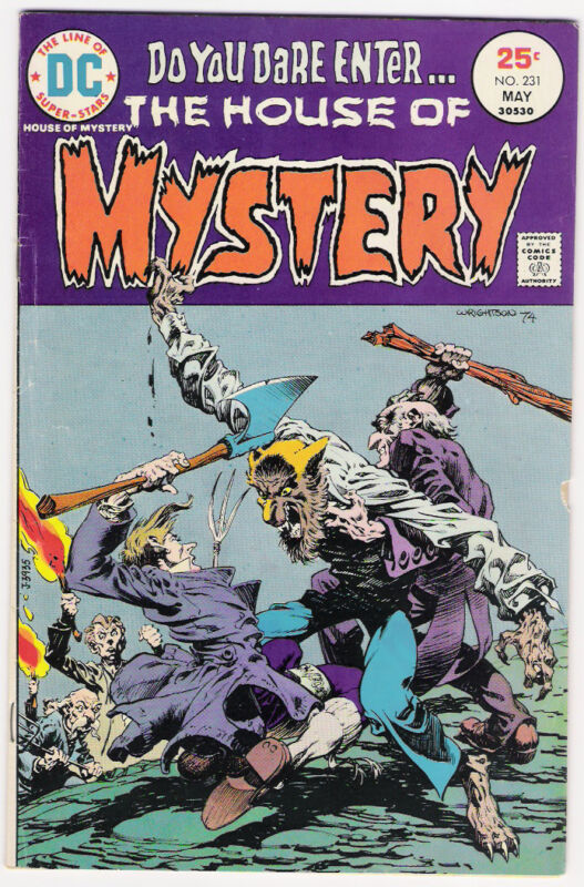 (1975) DC COMICS HOUSE OF MYSTERY #231 CLASSIC BERNI WRIGHTSON COVER! VG / FINE