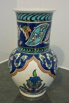 Vintage Kutahya (Turkey) Hand Made Pottery Vase-Altin Gini