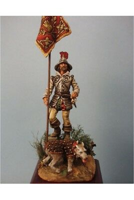 Spanish conquistador with dog in Guayaquil 54mm Tin Painted Toy Soldier | Art