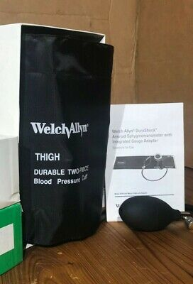 New Welch Allyn Durashock Aneroid Sphygmomanometer Thigh 2-piece Cuff Ds45-13cb