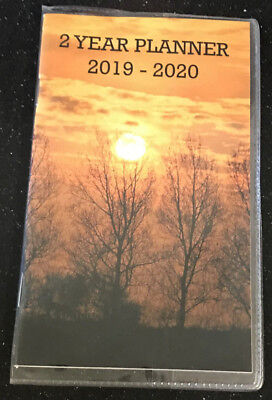 New 2 Year Planner 2019 - 2020 Winter Trees Monthly Pocket Calendar Two