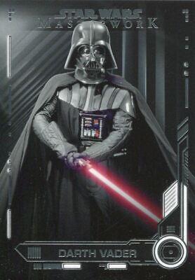 Star Wars Masterwork 2019 Base Card #9 Darth Vader