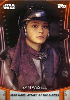 Women Of Star Wars Orange Base Card #99 Zam Wesell