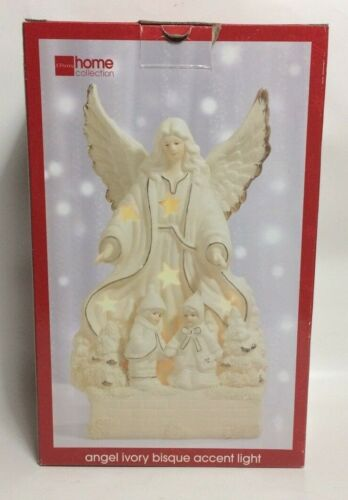 Used Very Good vintage JC PENNEY ANGEL IVORY BISQUE ACCENT LIGHT 1990