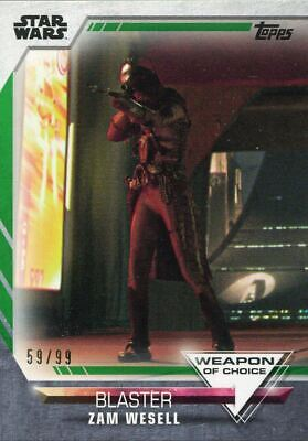 Women Of Star Wars Green [99] Weapon Of Choice Chase Card WC-9 Zam Wesell