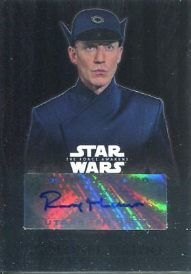 461e153c8886f2 Star Wars Force Awakens Chrome Autograph Card CA-RM Rocky Marshall as Col.  Datoo