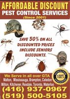 Affordable Pest control on 50 %  half priced