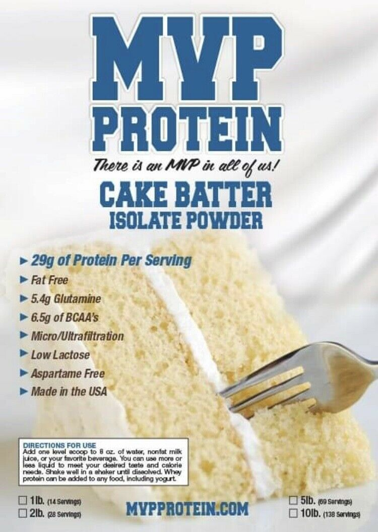 cake batter whey isolate protein powder 10