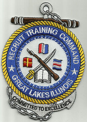 United States NAVY RTC Recruit Training Command Great Lakes, IL Military Patch