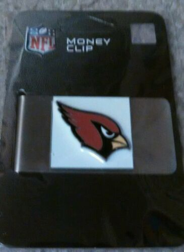 NFL Arizona Cardinals Stainless Steel Money Clip NIP Free Sh