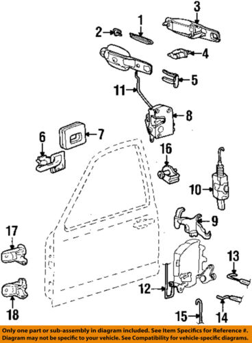 1993 lincoln town car engine diagram lincoln ford oem 92 97 town car rear door lock actuator motor  town car rear door lock actuator motor