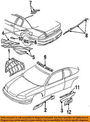 Chevrolet GM OEM 1995 Monte Carlo Stripe Tape-Decal sticker 10263874