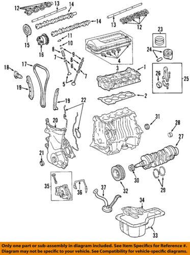 [CSDW_4250]   Pontiac GM OEM 03-06 Vibe-Engine Crankshaft Crank Main Bearing 88974283    eBay   Vibe Engine Diagram      eBay