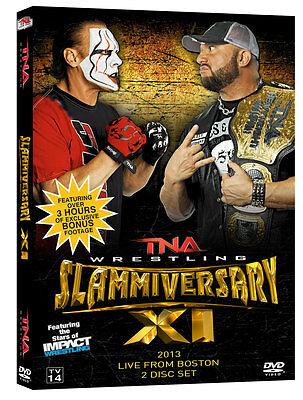(TNA Impact Wrestling Slammiversary XI 11 2013 DVD Sting Bully Ray 2 Disc Set)