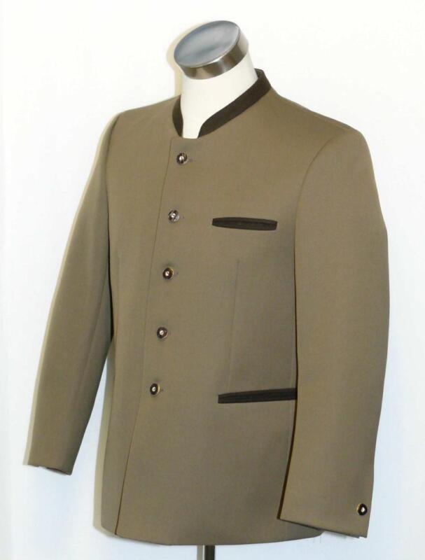 "BROWN Green~WOOL Men German Hunting Western Riding Suit JACKET Coat Eu 48 41"" M"