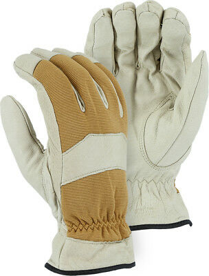 Winter Eagle Mechanics Style Insulated Pigskin Gloves Leather Work Riding 1572
