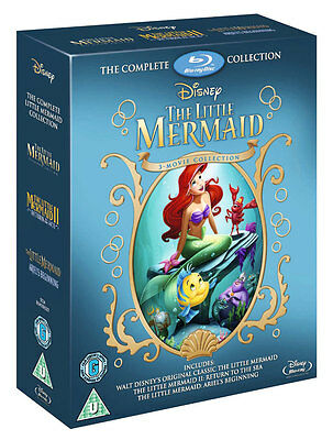 THE LITTLE MERMAID TRILOGY [Blu-ray Box Set] 3-Movie Complete Disney Collection