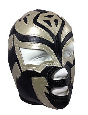SOMBRA (pro-fit) Adult Lucha Libre Halloween Costume Mask - Black/Grey