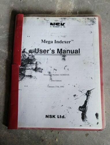 NSK Mega Indexer Servo Drive Users Manual